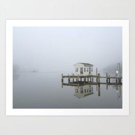 Eastern Branch Boat House Art Print