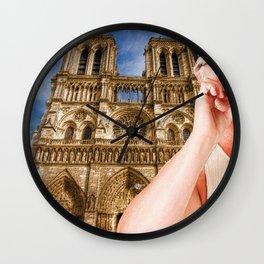 An American In Paris Notre Dame Wall Clock