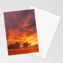 Burning Sunset Stationery Cards