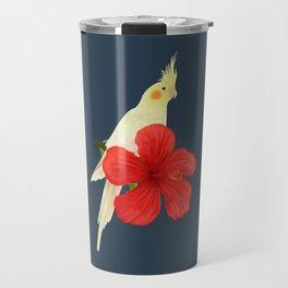 Lutino Cockatiel Travel Mug