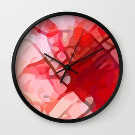 Crackle #4 Wall Clock