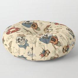 Sea Tattoo Pattern Floor Pillow