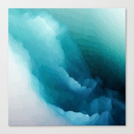 """""""Inner Calm"""" Turquoise Modern Contemporary Abstract Canvas Print"""