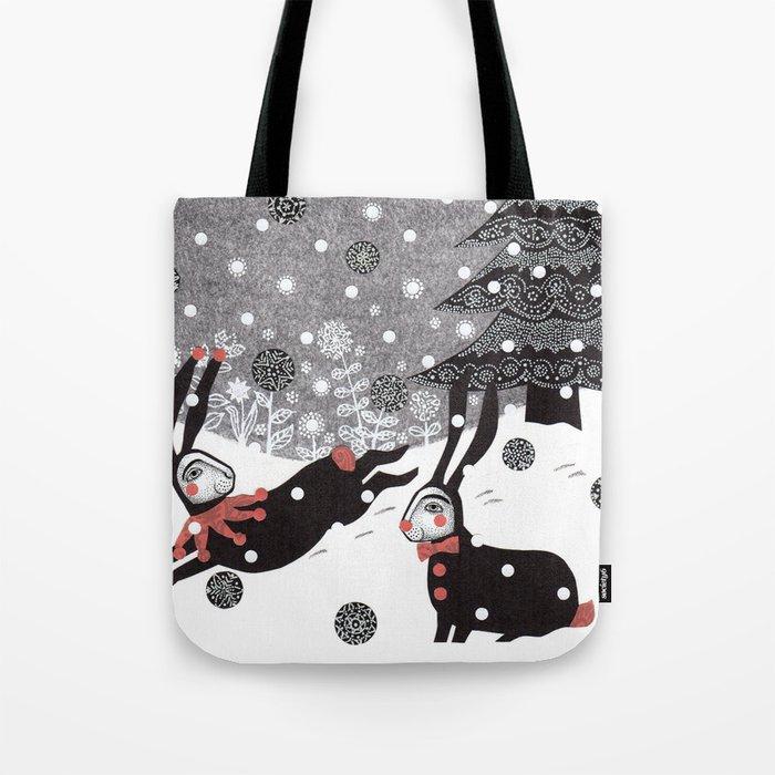 Snow Carnival Tote Bag