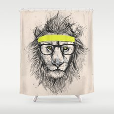 Hipster lion (light version) Shower Curtain