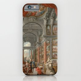 Picture Gallery with Views of Modern Rome iPhone Case