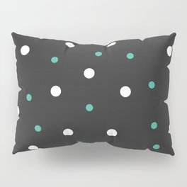 Grey and white Polka Dots Pillow Sham