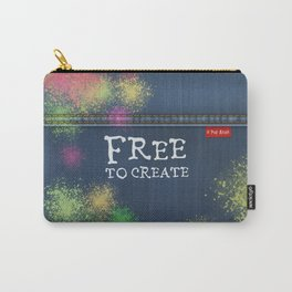 Denim Jeans - Free To Create Carry-All Pouch