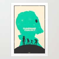 guardians of the galaxy Art Prints featuring Guardians of the Galaxy by FelixT