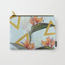Floral Gold Triangle #society6 #buyart #homedecor Carry-All Pouch