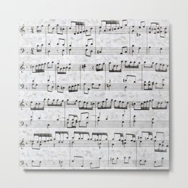 Nota Bene (white) Metal Print