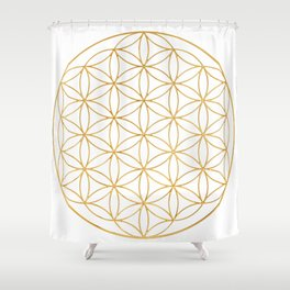 Flower Of Life, Mother Of The Tree Of Life And The Metatron's Cube Shower Curtain