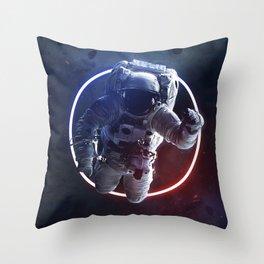 astronaut space digital art Throw Pillow
