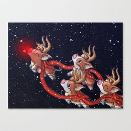 Santa's Backups Canvas Print
