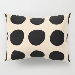 Irregular Polka Dots black and cream Pillow Sham