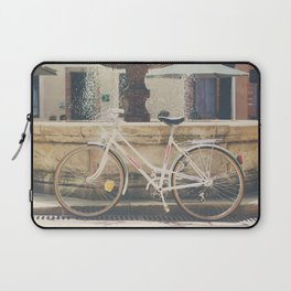 cycling across France on this pretty white bicycle Laptop Sleeve