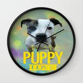 Jess Puppy Love Wall Clock
