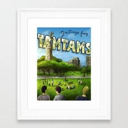 Tamtams  Framed Art Print