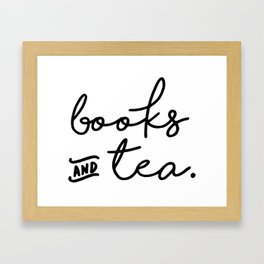 Books and Tea Framed Art Print