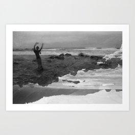 Ocean Blessing - Self Portrait Art Print