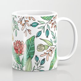Wildflower Pattern - Full Color Coffee Mug