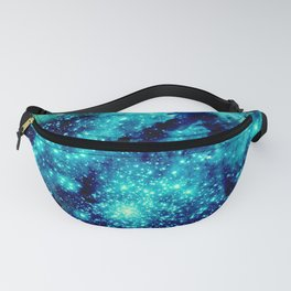GALAXY. Teal Aqua Stars Fanny Pack