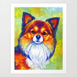 Small and Sassy - Rainbow Chihuahua Dog Art Print
