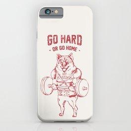 Go Hard or Go Home Shiba Inu iPhone Case