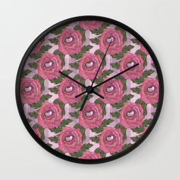 floral eye Wall Clock