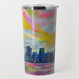 An Evening In Vancouver Travel Mug