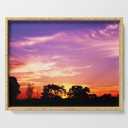 East Texas Sunset Serving Tray