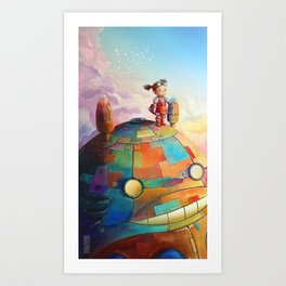 MEI and TOTORO Art Print