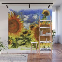 Sunflowers Vincent Van Goth Wall Mural