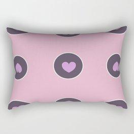 Circle Pattern With Hearts Rectangular Pillow