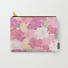 peonies flower floral roes pink flowering Carry-All Pouch