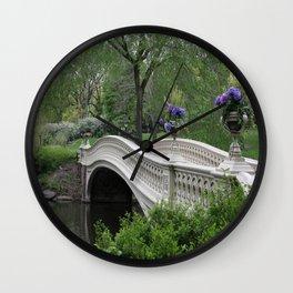Bow Bridge Central Park New York Wall Clock