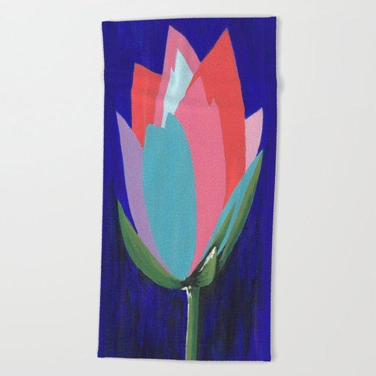 Flashy Flower Beach Towel