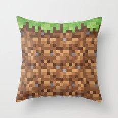 Minecraft Dirt Block Throw Pillow
