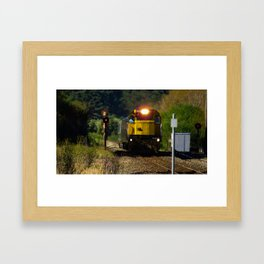 Train in the countryside Framed Art Print