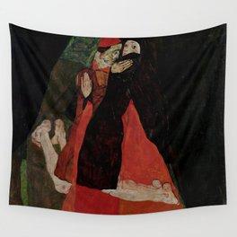 """Egon Schiele """"Cardinal and Nun (Caress)"""" Wall Tapestry"""