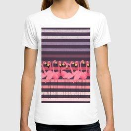 FUN STRIPES WITH FLAMINGOS T-shirt