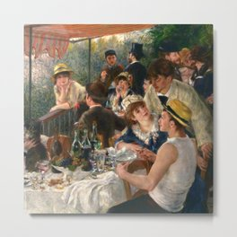 """Auguste Renoir """"Luncheon of the Boating Party"""" Metal Print"""