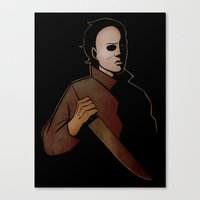 michael myers Canvas Prints featuring Michael Myers by Jetpacksquirrel