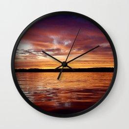 Bow Lake Wall Clock