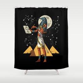 Thoth Egyptian God Ancient Pyramids Shower Curtain