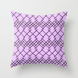 On a Drum Roll Lavender  Throw Pillow