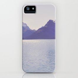 purple mountains iPhone Case