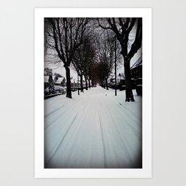 Urban Winter Art Print
