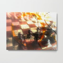 chess encounter Metal Print