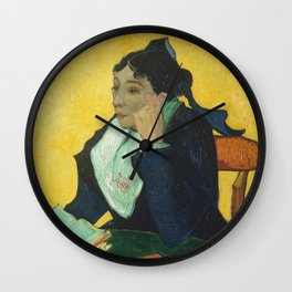 Vincent Van Gogh - L'Arlesienne, Portrait of Madame Ginoux Wall Clock